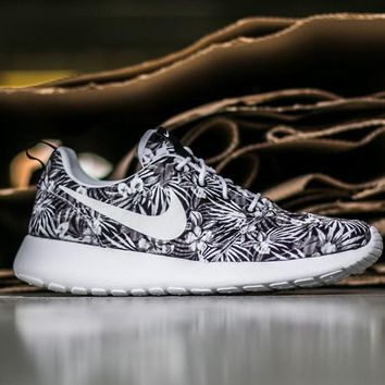 NIKE Roshe One Print Premium Women Men Casual Running Sport Shoes Sneakers Shoes leaf