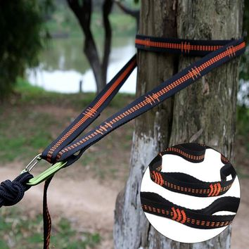 Foldable Essential Can Hold 2000kg Outdoor Camping Hiking Hammock Hanging Belt Hammock Strap Rope Accessories