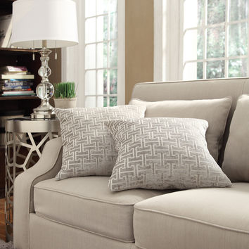 INSPIRE Q Clybourn 18-inch Toss Grey Link Accent Pillow (Set of 2) | Overstock.com Shopping - The Best Deals on Throw Pillows