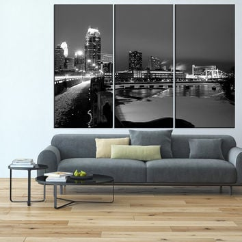 Minneapolis Skyline Canvas Print wall art, extra large wall art print, Minneapolis downtown canvas  gallery art minneapolis print t548