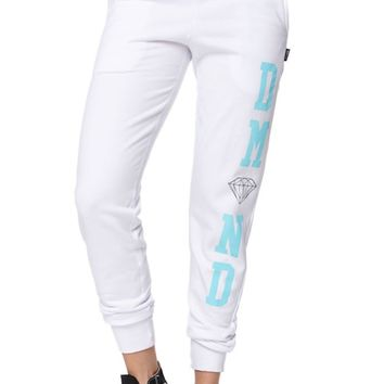 Diamond Supply Co Diamond Blue Jogger Pants - Womens Pants - White