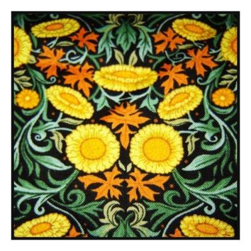 William Morris Sunflowers Design Counted Cross Stitch or Counted Needlepoint Pattern