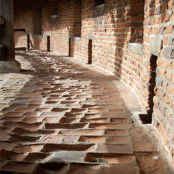 Rustic Photography, Red Brick Walkway Photo