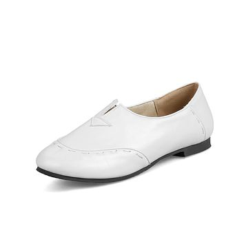Faux Leather Flats Shoes for Women 9380