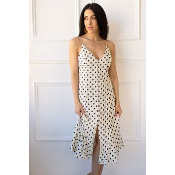 Panama Polka Dot Linen Dress