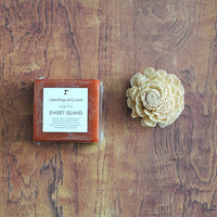 Sweet Island Honey Soap with French Pink Clay