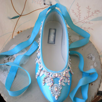 Blue Wedding Shoes - Tiffany Blue Flats - Bridal Ballet Flats