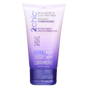Giovanni Hair Care Products Conditioner - 2chic - Repairing - Blackberry and Coconut Milk - 1.5 oz