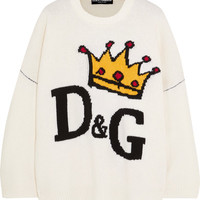 Dolce & Gabbana - Oversized intarsia wool sweater