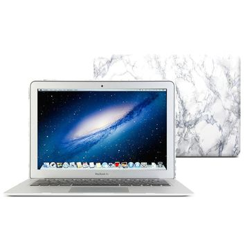 GOOYIYO - 2017 Hot Sale White Marble Skins Laptop Hard Plastic Case PC Shell for Apple Macbook Air 13 11 Pro13 15 Retina13 15 12