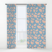 Paper Pigs (Patterns Please Series #3) Window Curtains by lalainelim