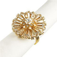 Pier 1 Imports - Product Details - Fleur Gold Rhinestone Napkin Ring