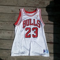 Michael Jordan Bulls Champion Jersey 90s Vintage from Deadstock Dynasty
