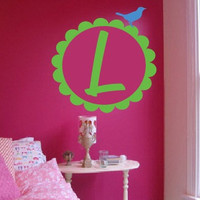 "22"" Wall Monogram Girl's Room Decor"