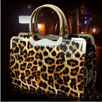 Shiny Leopard Handbag Shoulder bag