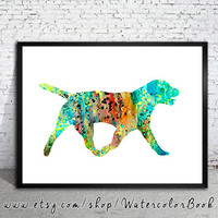 Labrador 4 Watercolor Print, Children's Wall, Art Home Decor, dog watercolor, watercolor painting, Labrador art, animal watercolor, dog art