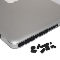 Skque Black Anti Dust Plug Cover for Apple MacBook Pro Air 11 13 15