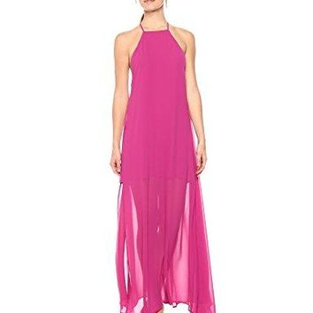 Show Me Your Mumu Women's Bronte Maxi Dress, Fuchsia Pop Chiffon, M