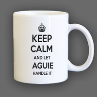 Keep Calm and let Aguie Handle it Personalized Coffee Mug