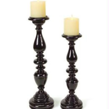 4 Candle Holders - Black Gloss Finish