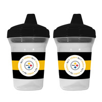 Baby Fanatic 2-Pack Sippy Cups - Pittsburgh Steelers
