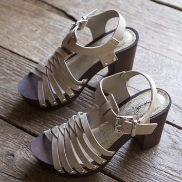 Beekler Strappy Heels, Light Taupe