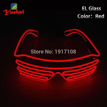 Neon LED Light Up Shutter Fashionable Glasses Party Decoration With Flashing/Steady
