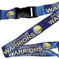 Golden State Warriors NBA Lanyard Team Blue Lanyard with Keychain Clip