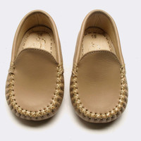 Baby CZ :: baby boy :: accessories & blankets :: Baby Boy's Leather Moccasin in Saddle