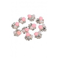 Nail Art Decoration Pink Flower Decoration Manicure Stick Drill Self Adhesive Rhinestone Nail Art Stickers