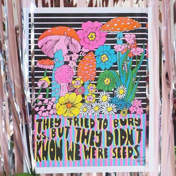 They Tried to Bury Us Risograph Art Print