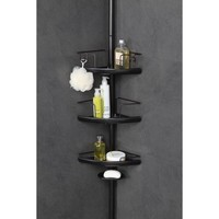 HomeZone 3-Tier Adjustable Pc Corner Shelf Extesion Pole Caddy, Oil-Rubbed Bronze - Walmart.com