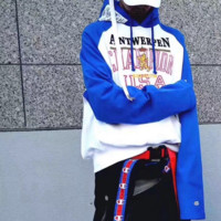 Champion Vetements cotton long sleeve and hooded hoodie coat sweater