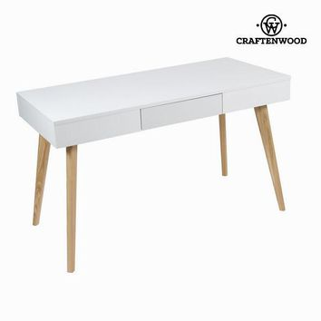 White computer desk with drawer by Craften Wood