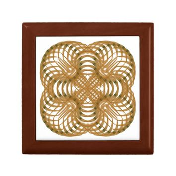 Symmetric pattern jewelry box