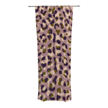 "Vasare Nar ""Leo Cheetah"" Animal Pattern Decorative Sheer Curtain"