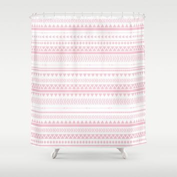 Rose Pink Aztec Pattern Shower Curtain by Allyson Johnson | Society6