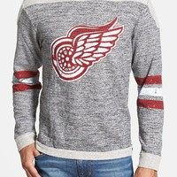 Men's Red Jacket 'Detroit Red Wings - Preston' Long Sleeve French Terry T-Shirt