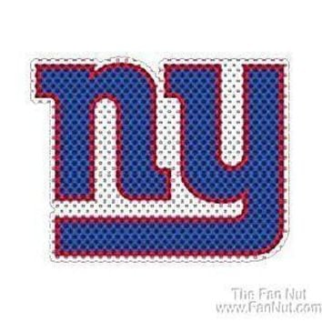 New York Giants NY Large New Window Film One-Way Vision Decal Football