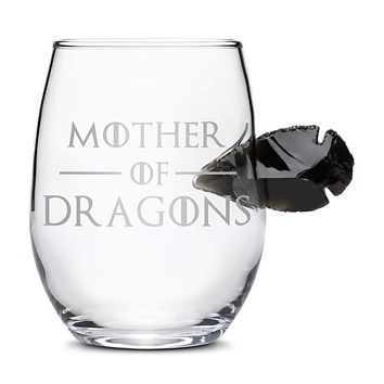 Limited Edition Game of Thrones Wine Dragon Glass Obsidian Arrowhead, Mother of Dragons