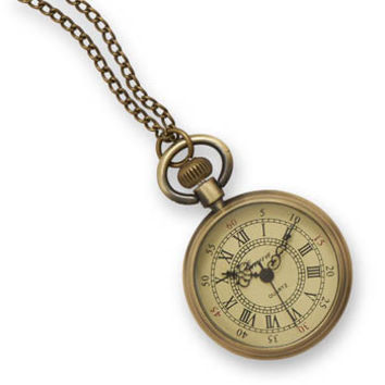 "30"" Antique Style Fashion Necklace Watch"