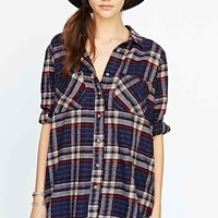 BDG Bobby Flannel Button-Down Shirt- Blue Multi