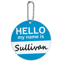 Sullivan Hello My Name Is Round ID Card Luggage Tag