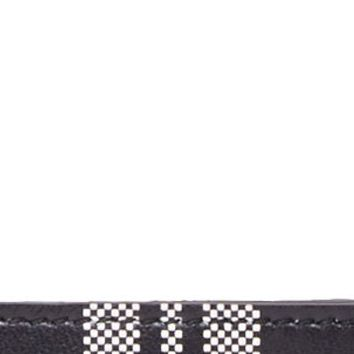 Alexander Mcqueen Black And White Plaid Leather Card Holder