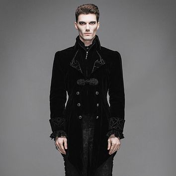 Men's Gothic Velvet Swallowtail Jacket