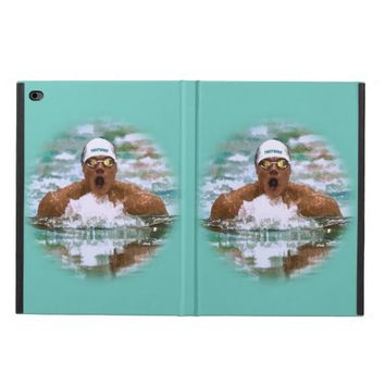 Swimmer Athlete In Pool With Water Drops Painting Powis iPad Air 2 Case