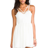 Cameo District Dress in White