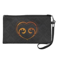 Abstract Steampunk Heart Wristlet