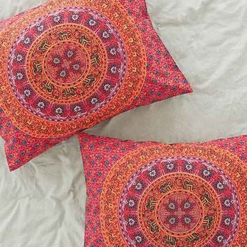 Magical Thinking Red Medallion Sham Set- Red One