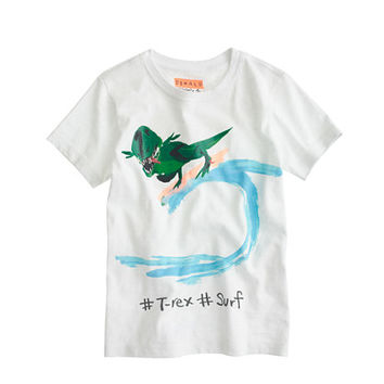 Boys Donald Robertson For crewcuts Dino Surf T-Shirt